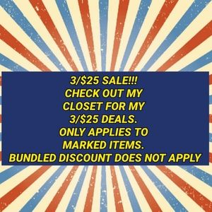 3/$25 bundle deal
